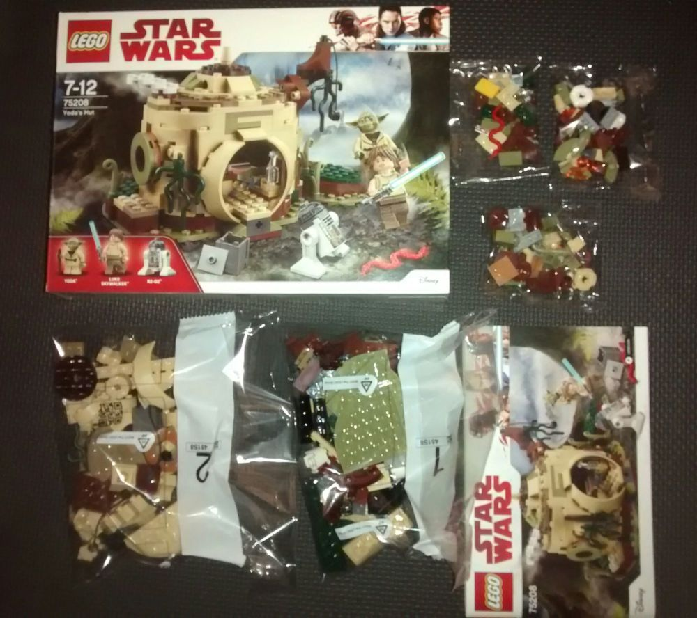 Lego - 75208 - Yodas Hut - NO MINIFIGURES - Discontinued Set