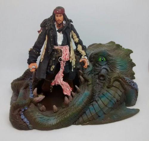 Zizzle - Captain Jack Sparrow & Kraken - Rare Collectable - Loose Figure Se