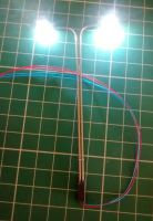Street Lamp - Double Lamp Post - Micro LED - 3v DC - Suitable For Diorama , Architectural , Display , Model Railway HO , 00. OUR PARTS REF LP3