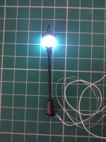 Street Lamp - Lantern Lamp Post - Micro LED - 3v DC - Suitable For Diorama , Architectural , Display , Model Railway HO Scale 1:100  OUR PARTS REF LP4