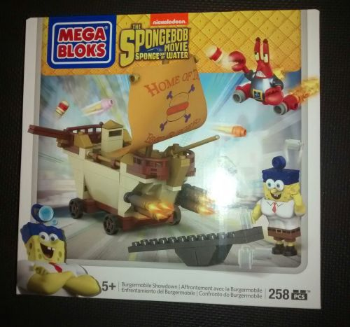 Mega Bloks - The Spongebob Movie - Burgermobile Showdown Set - Retired Set