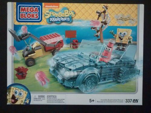 Mega Bloks - Spongebob Squarepants - Invisible Boatmobile Rescue Set - Reti