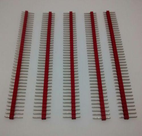 40-Way Single Row PCB Header Plug - 2.54mm / 0.1