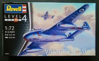 Revell  1/72 Vampire F Mk.3 Plastic Model Kit