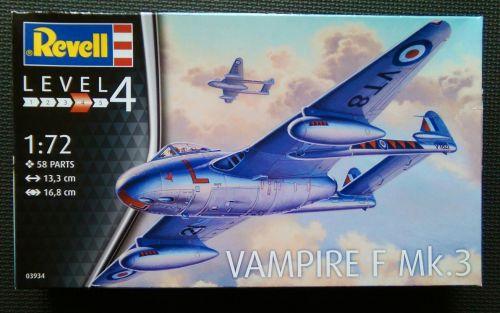 Revell  1/72 Vampire F Mk.3 Plastic Model Kit