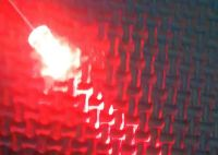 5mm Clear Type Red Prewired Led - 500mm Fine Wire - Bare Tinned Copper Ends - 4v to 12v DC