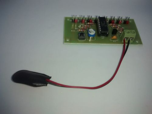 Fully Assembled Circuit Board - 8 LED Chaser PIC Microcontroller