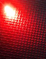 Qty 10 - 5mm Diffused Led - Diffused Type Lens - Red