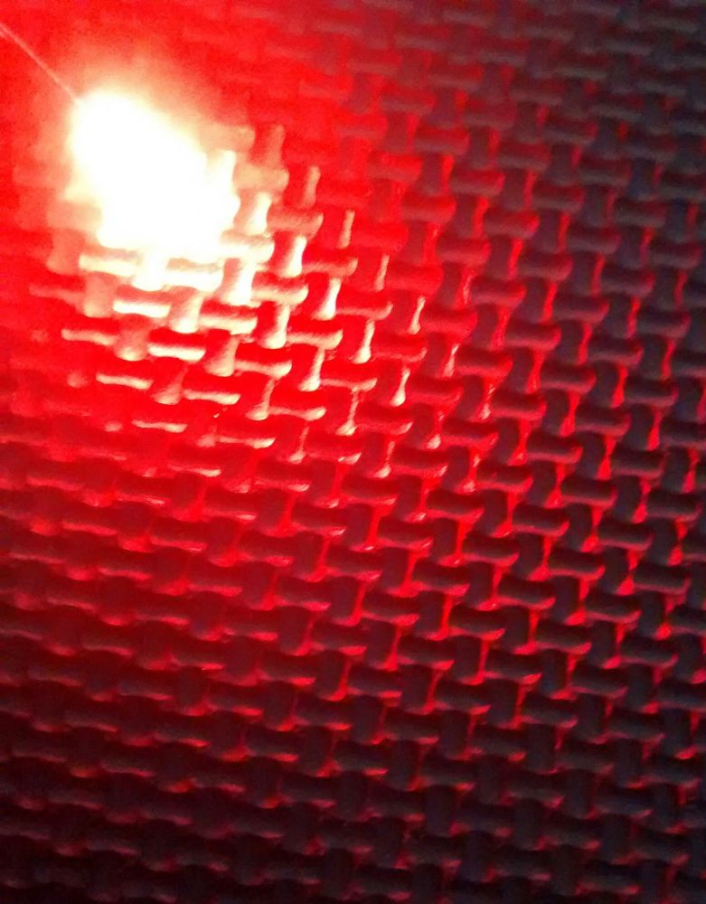 Qty 10 - 3mm Diffused Led - Diffused Type Lens - Red