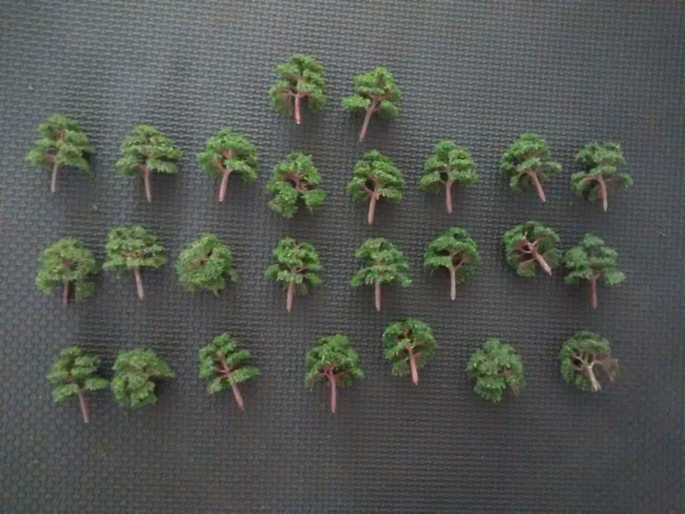 Foam Tree Pack - For Diorama, Model Railway, Display Model Scenes & Miniatu