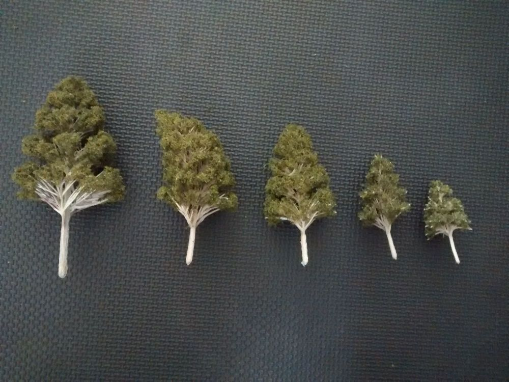 Foam Tree Pack - For Diorama, Model Railway, Display Model Scenes & Miniatu
