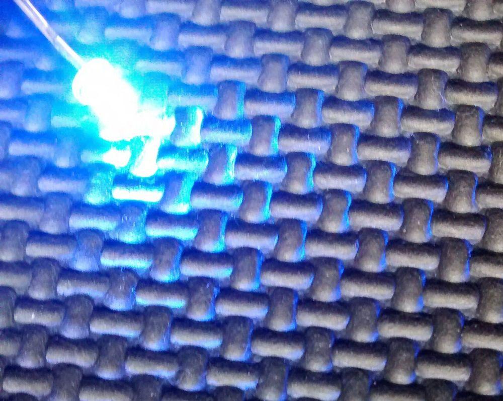 Qty x50  3mm Blue Flat Top Ultra Bright Led