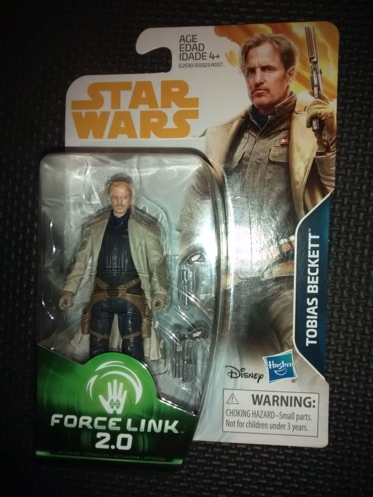 Star Wars Tobias Beckett Collectable Figure E2530/E0323 Force Link - 2.0 Co