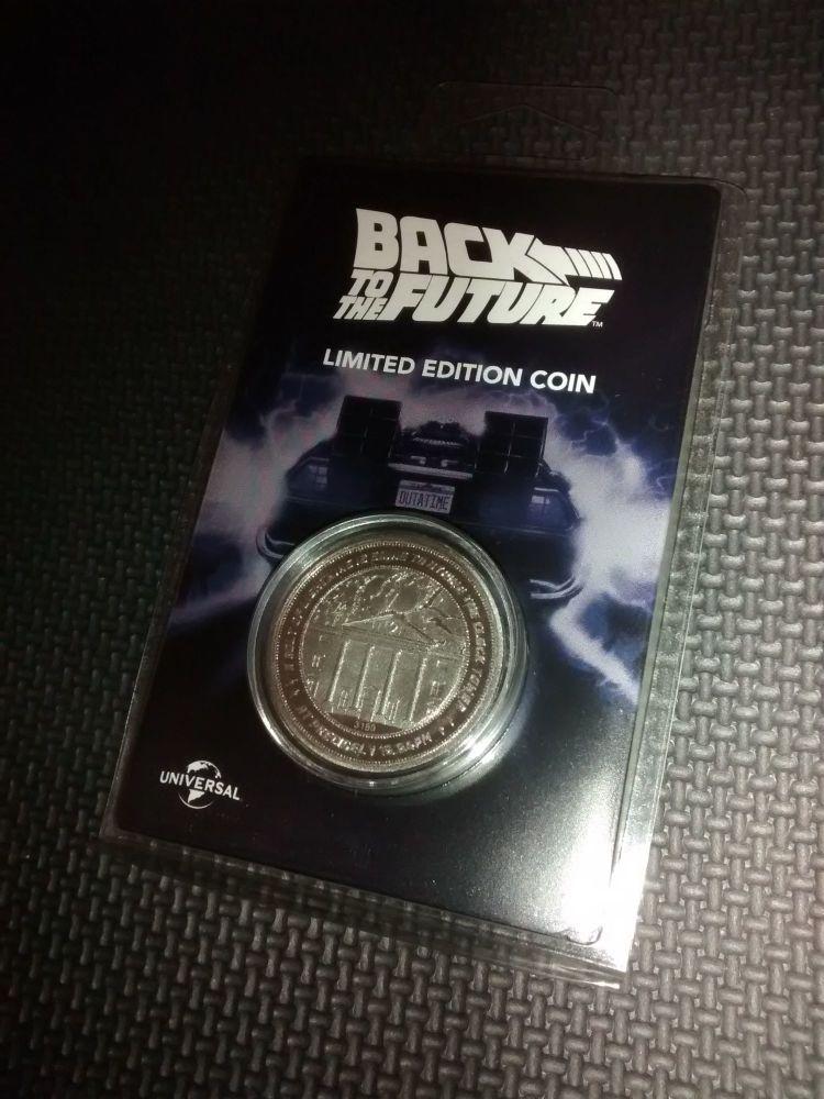 Back To The Future - Limited Edition Coin - Fanattik - Universal Studios -