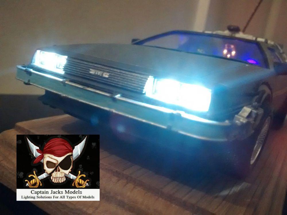 AOSHIMA Model Kit No. 08 - Back To The Future DeLorean Time Machine Light K