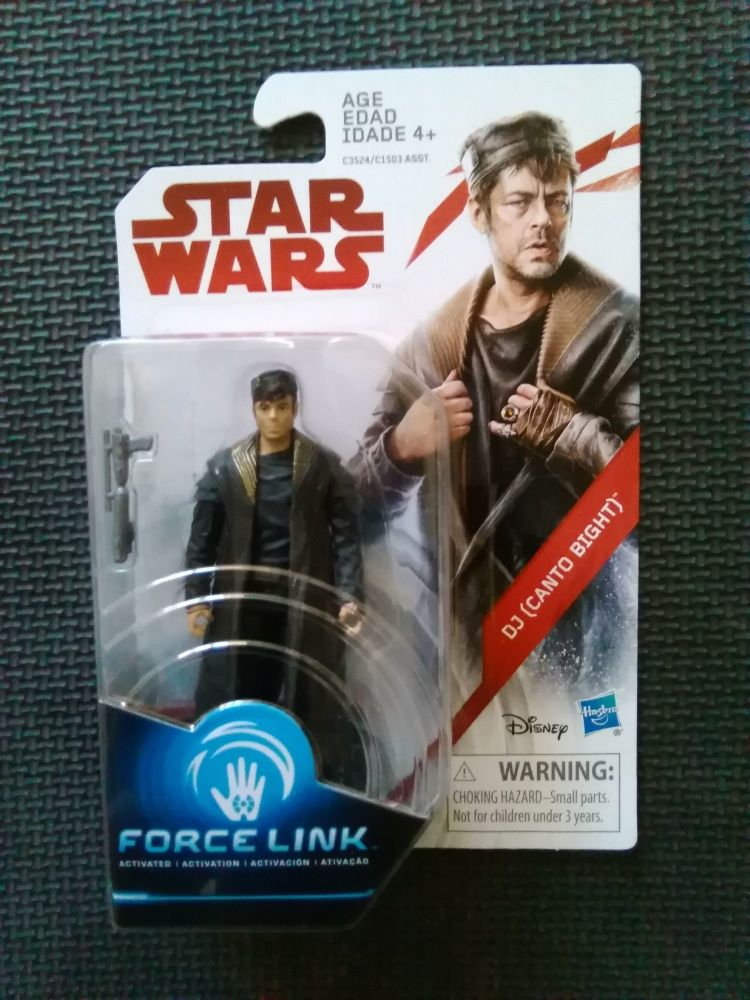 Star Wars DJ Canto Bight Collectable Carded Figure C3524/C1503 Force Link C