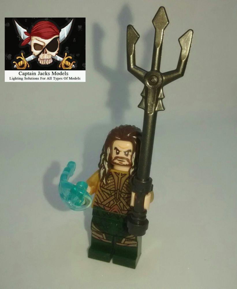 Lego Minifigure - Power Blast Aquaman Figure - Split From Set 76085
