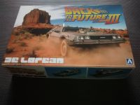 Aoshima - Back To The Future Part III - Time Machine Mark IV Final Act - Model Kit - DeLorean