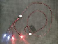 10mm Red & 3mm Cool White Terminator Eyes 1:1 Scale Light Kit