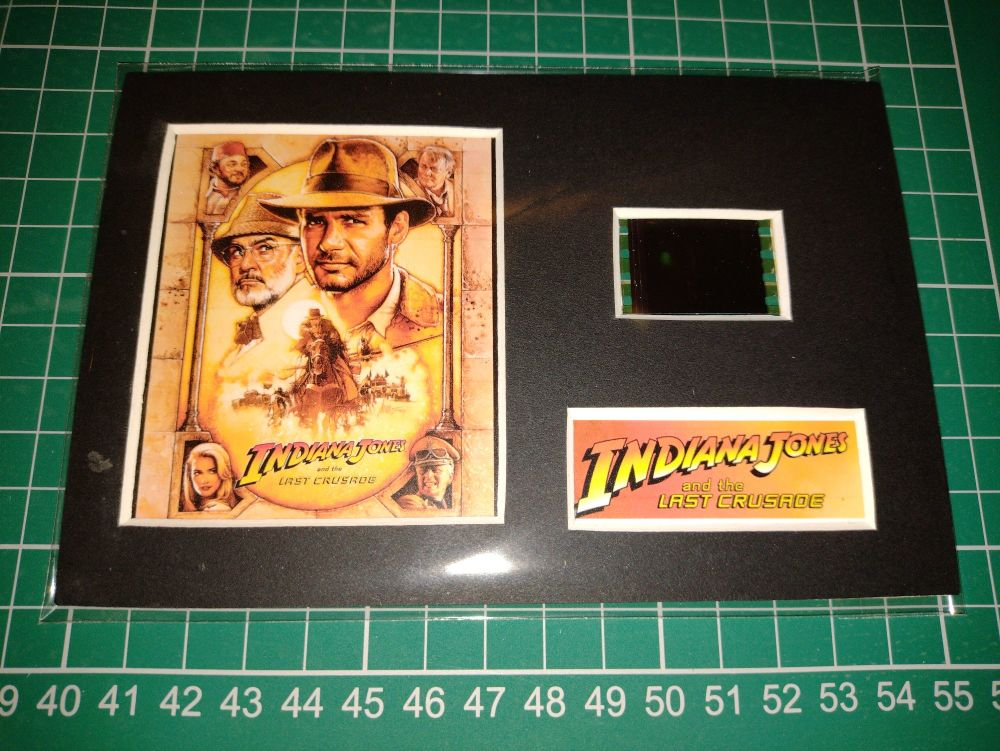 Genuine 35mm Screen Used Movie Cell Display - Indiana Jones and the Last Cr