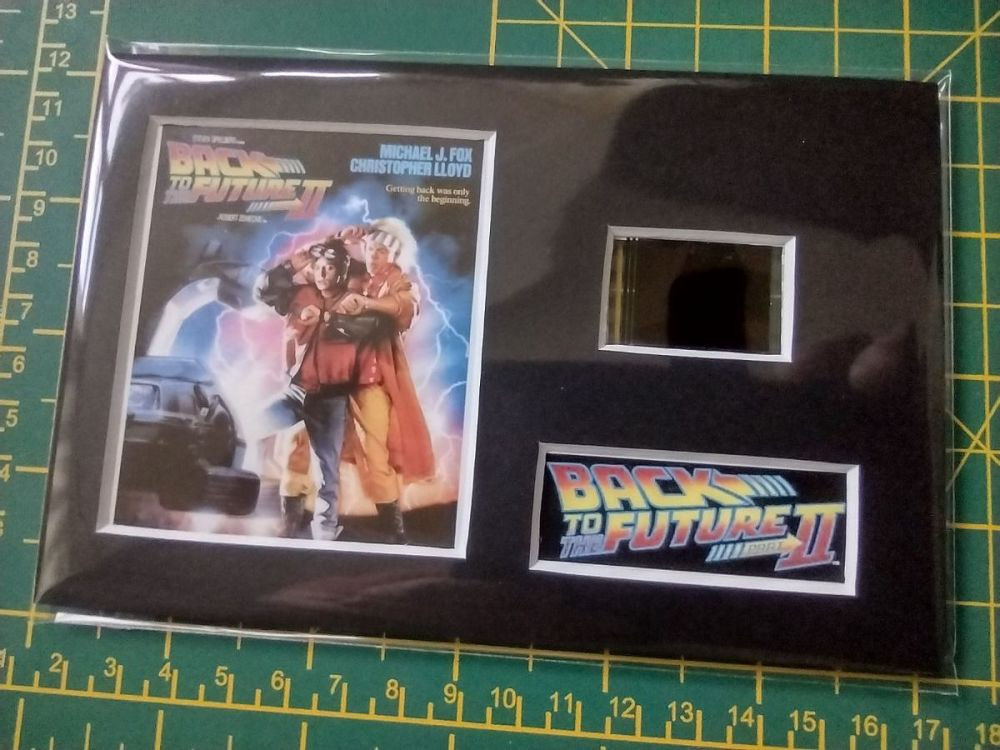 Genuine 35mm Screen Used Movie Cell Display - Back To The Future II - Ref N