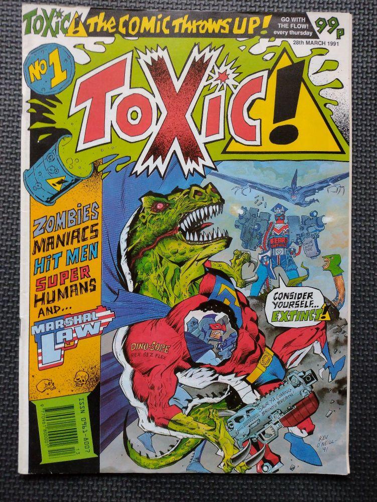 Toxic! - Retro Comic Book - 1990s - Issue 1