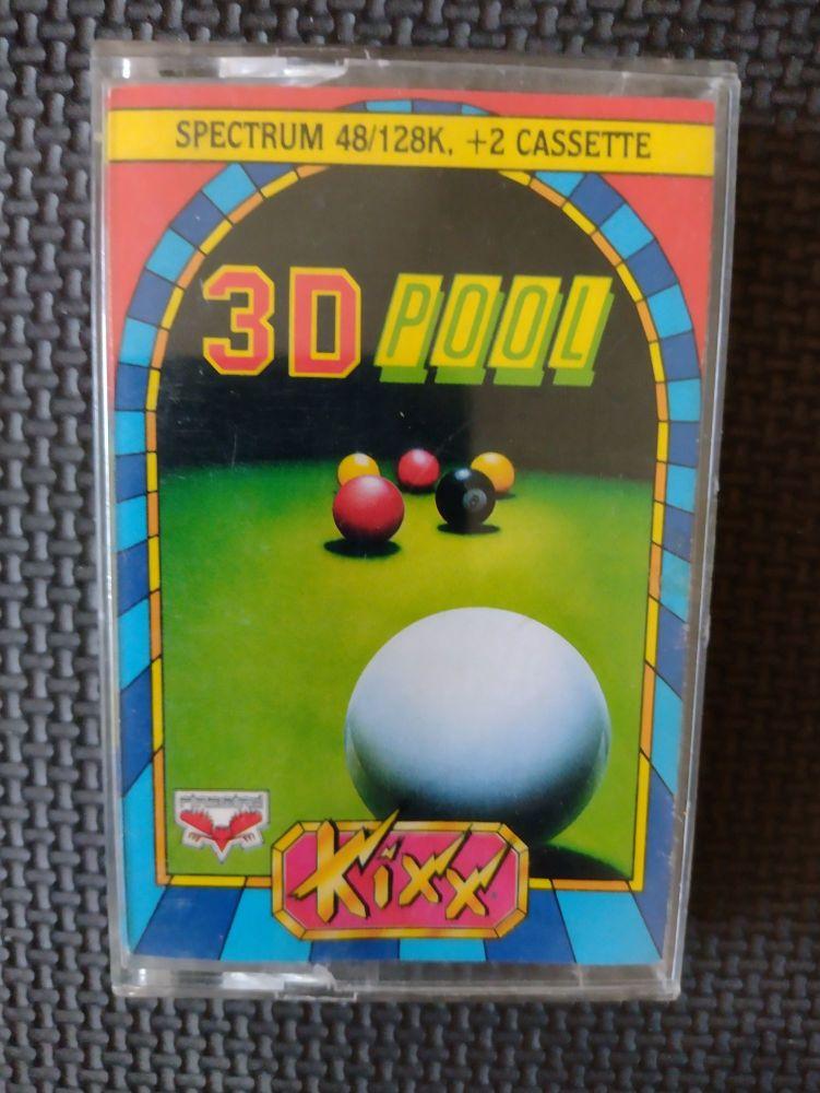 3D Pool - Kixx - Vintage ZX Spectrum 48K 128K +2 +3 Software - Tested & Wor