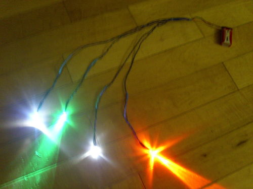 5mm Flashing Navigation Light Set (Red & Green Flash)