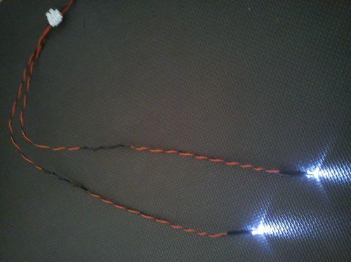 5mm x1 Flashing Cool White  x1 Static Cool White 450mm Loom - Separate - TB