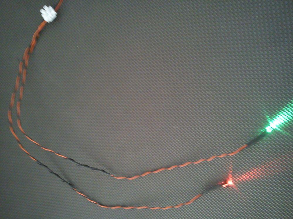 5mm x1 Flashing Red x1 Flashing Red/Green 450mm Loom - Separate - TBlock
