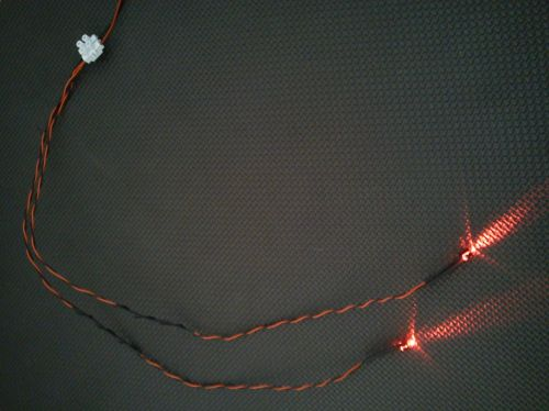 5mm x2 Flashing Red 450mm Loom - Separate - TBlock