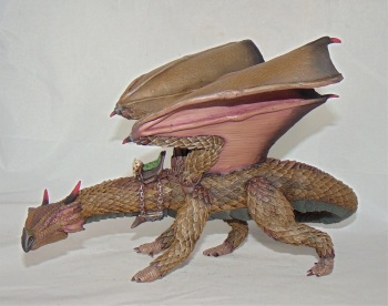 Dragon with saddle