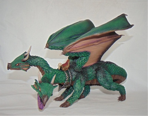 Twin headed dragon with saddle