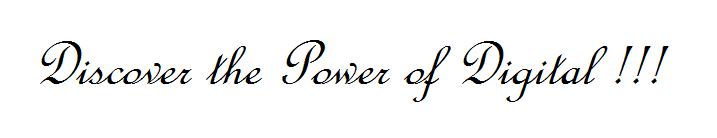 power of digital web logo