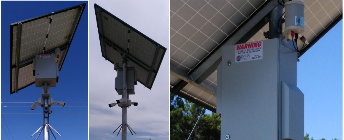 custom built solar power high definition surveillance solution