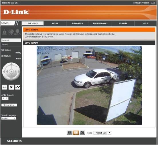 dlink remote view cam image