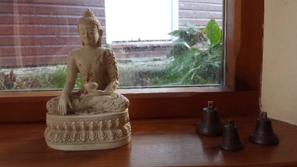 buddha in windowsill