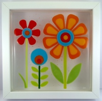Feeling Groovy 1 Framed Fused Glass Picture