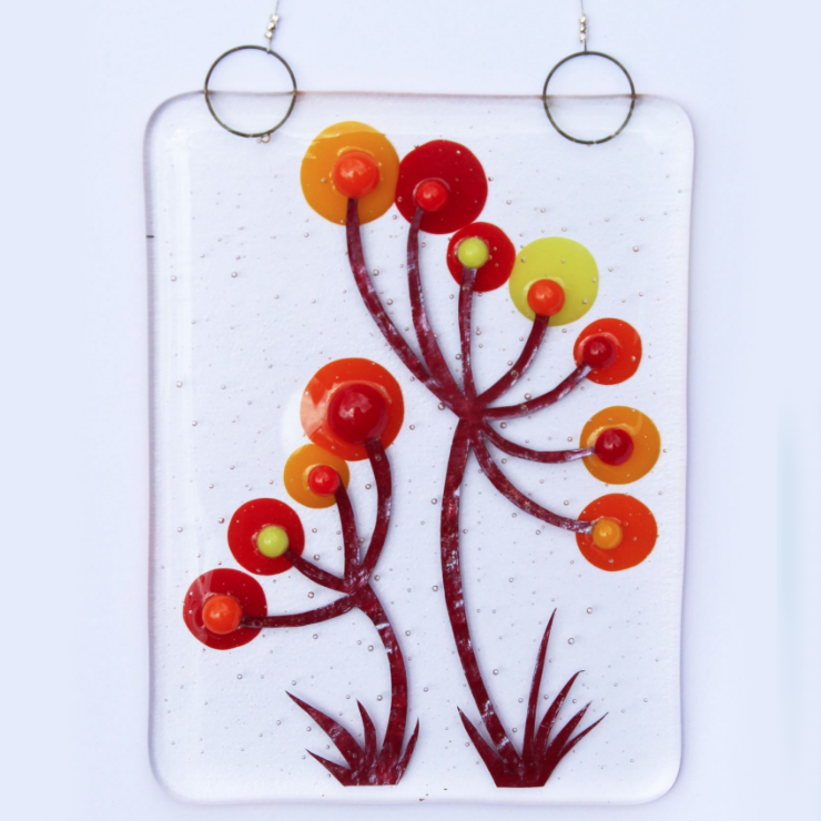 Hanging Fused Glass Art