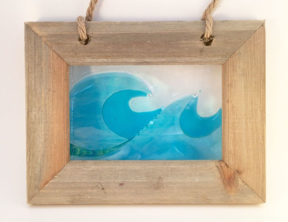 Rustic Framed Wave Picture