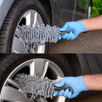 Flexible Noodle Microfibre Wheel Brush