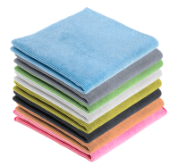 """Microfibre Professional Cloth 280GSM 16"""" X 16"""" Multi-Coloured (Pack of 8)"""