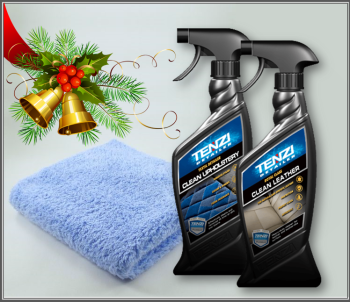 TENZI Leather & Fabric Upholstery Cleaner Twin Pack Christmas Deal