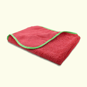 "Microfibre Buffing/Drying Towel 380GSM 16"" x 24"" Red (Dual Pile Qualities)"