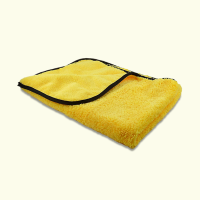 "Microfibre Buffing/Drying Towel 380GSM 16"" x 24"" Yellow (Dual Pile Qualities)"