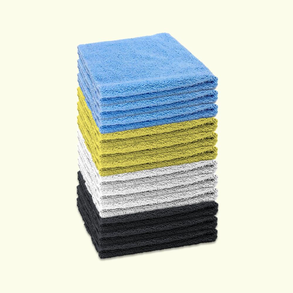 Microfibre Edgeless Cloth 380GSM 40cm x 40cm Multicoloured (Pack of 12)