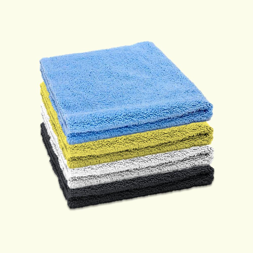 Microfibre Edgeless Cloth 380GSM 40cm x 40cm Multicoloured (Pack of 4)