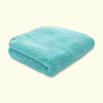 Microfibre PREMIUM Aqua Coral Fleece Finishing/Drying Cloth 820GSM 40cm x 40cm
