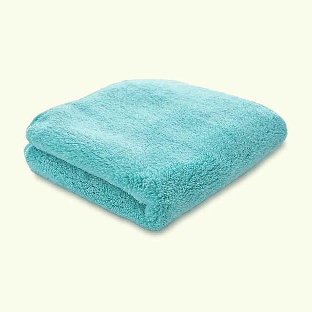 Microfibre PREMIUM Aqua Coral Fleece Finishing Cloth 820GSM 40cm x 40cm