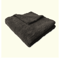 Microfibre Edgeless Plush Coral Fleece Finishing Cloth 450GSM 40cm x 40cm Black